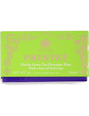 PRESTAT Green tea chocolate thins 200g