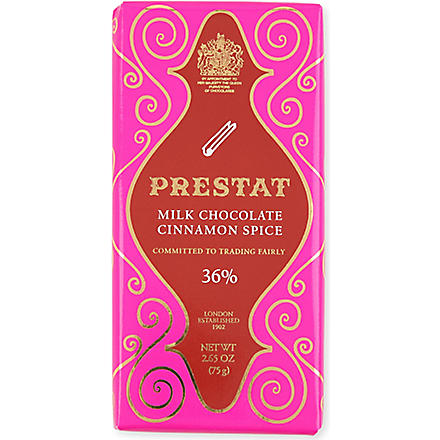 PRESTAT Cinnamon spice milk chocolate bar 75g