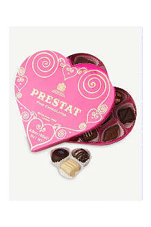 PRESTAT Fine chocolates heart box 185g