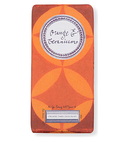 Organic orange & geranium artisan chocolate 70g