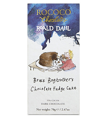 ROCOCO Bruce Bogtrotter's Chocolate Fudge Cake dark chocolate bar 70g