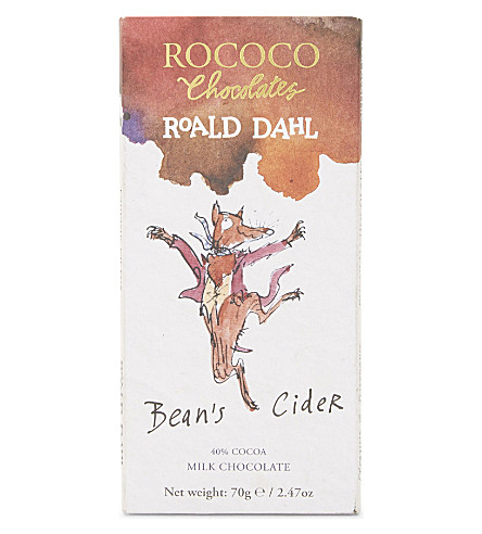 ROCOCO Bean's Cider Fantastic Mr Fox milk chocolate bar 70g