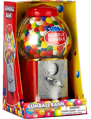 DUBBLE BUBBLE Gumball bank
