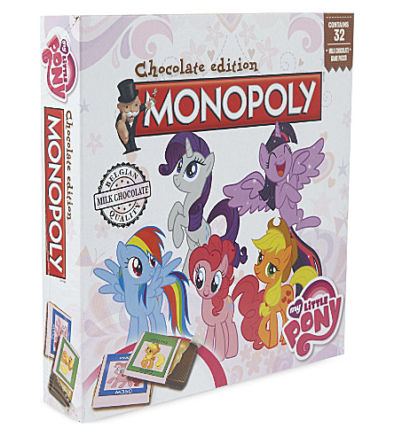 GAMES IN MOTION Monopoly My Little Pony chocolate edition board game