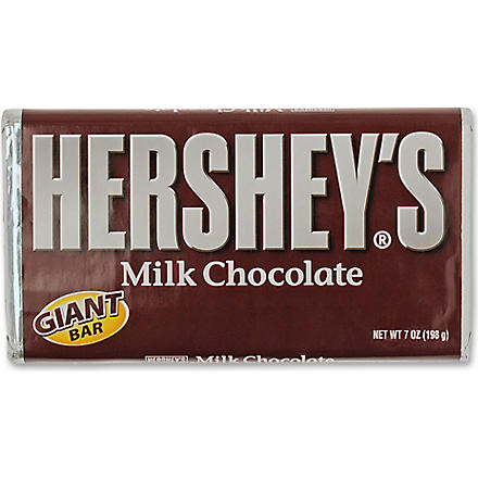 HERSHEY'S Giant milk chocolate bar 198g