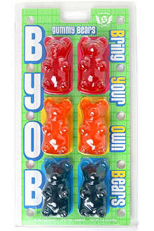 Six pack of gummy bears 326g