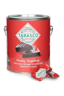TABASCO Dark chocolate wedges paint can