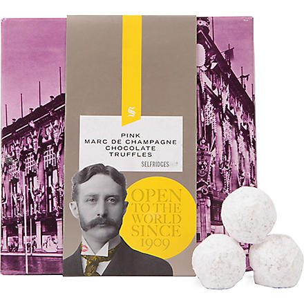 SELFRIDGES SELECTION Pink Marc de Champagne truffles 105g