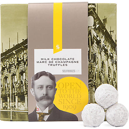 SELFRIDGES SELECTION Milk chocolate Marc de Champagne truffles 105g