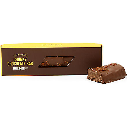 SELFRIDGES SELECTION Honeycomb chunky chocolate bar