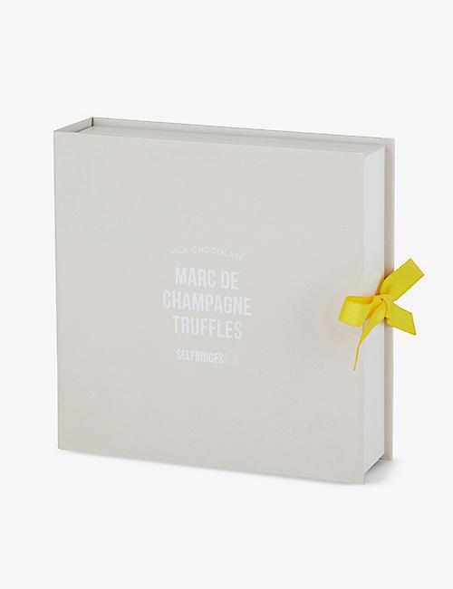 SELFRIDGES SELECTION Milk chocolate Marc de Champagne truffles box of nine