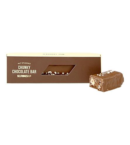 SELFRIDGES SELECTION Nut Studded chunky chocolate bar