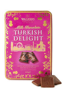 WALKERS Milk chocolate turkish delight thins 300g