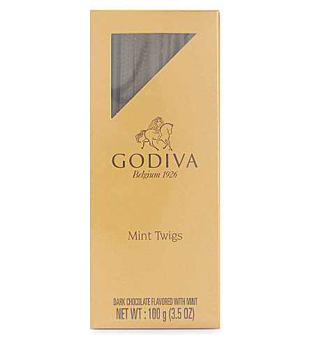 GODIVA Dark chocolate mint twigs 100g