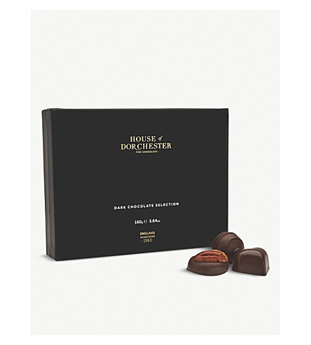 HOUSE OF DORCHESTER Dark chocolate selection box 160g