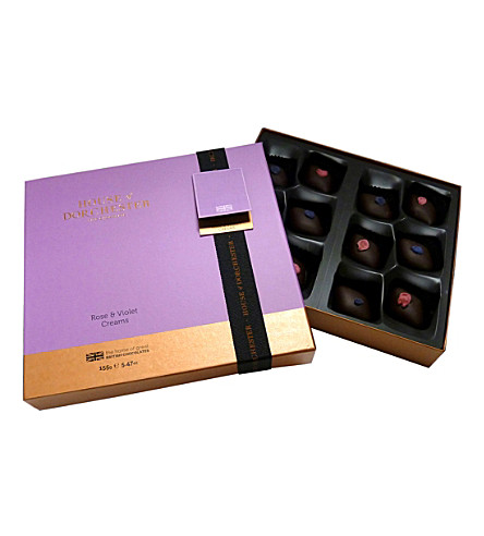 HOUSE OF DORCHESTER Rose & violet chocolate selection box 165g