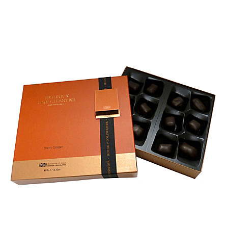 HOUSE OF DORCHESTER Stem ginger dark chocolate selection box