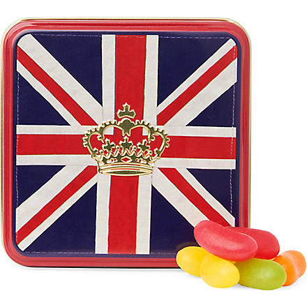HOUSE OF DORCHESTER Union Jack jelly beans gift tin 50g