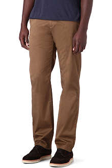 HUGO BOSS Crigan 2D regular-fit straight gabardine chinos