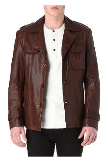 HUGO BOSS Jompany leather jacket