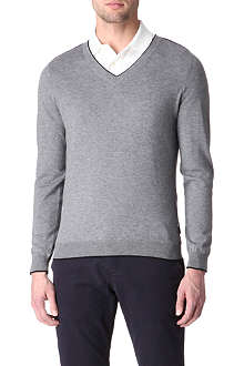 HUGO BOSS Gary v-neck knitted jumper