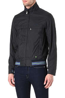 HUGO BOSS Jadon micro-check blouson jacket