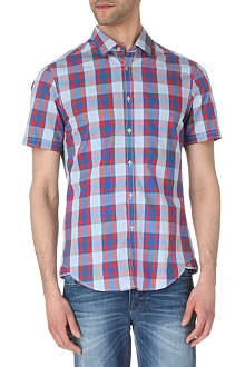 HUGO BOSS Bastiano short-sleeve checked shirt