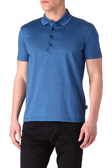 HUGO BOSS Bugnara fine-striped polo shirt