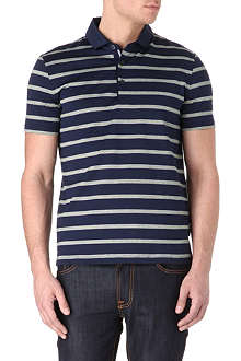 HUGO BOSS San Remo textured-stripe polo shirt