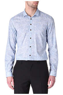 HUGO BOSS Remunus slim-fit leaf shirt