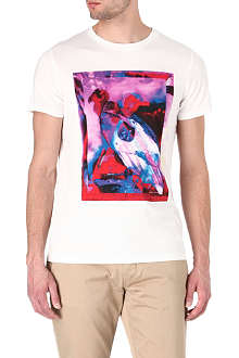 HUGO BOSS Tropical vulture-print t-shirt