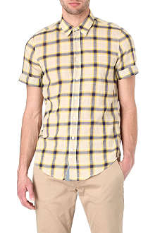 HUGO BOSS Cliff linen-blend short-sleeved shirt