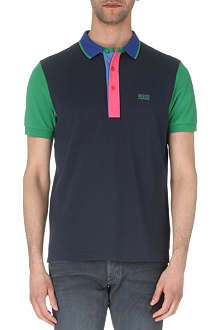 HUGO BOSS Pedro colour-block polo shirt