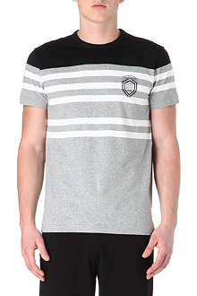 HUGO BOSS Half-stripe t-shirt