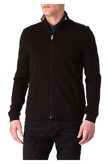 HUGO BOSS Cannobio panelled zip-up sweatshirt