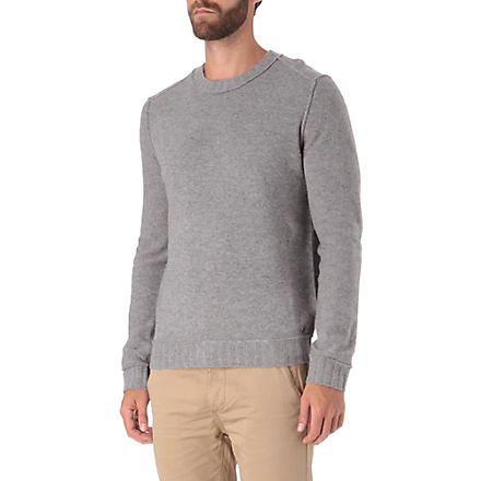 HUGO BOSS Crew neck lambswool jumper (Grey