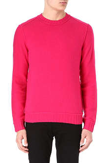 HUGO BOSS Virgin wool reverse-look jumper
