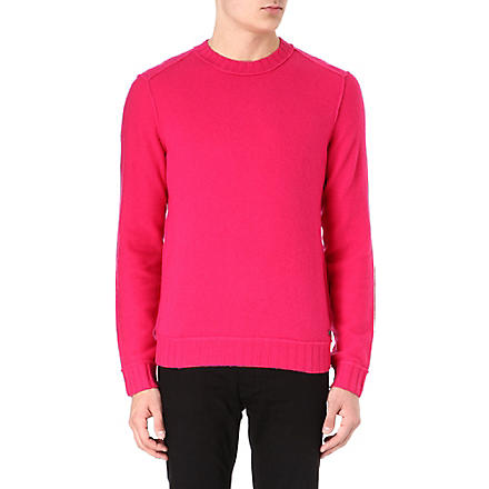 HUGO BOSS Virgin wool reverse-look jumper (Pink