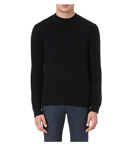 HUGO BOSS Adwino wool jumper (Black