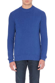 HUGO BOSS Lambs wool crew-neck jumper