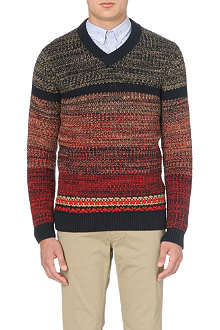 HUGO BOSS Agrade multi-coloured knit jumper