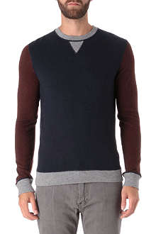 HUGO BOSS Contrast detail knitted jumper
