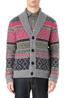 HUGO BOSS Chunky multi-coloured cardigan