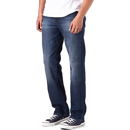 HUGO BOSS Comfort washed light jeans (Blue