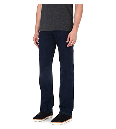 HUGO BOSS Alabama comfort-fit straight jeans (Navy