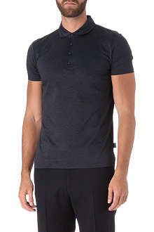 HUGO BOSS Slim-fit shoulder patch polo shirt