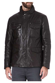 HUGO BOSS Asko leather field jacket