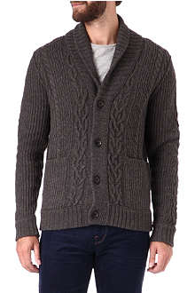 HUGO BOSS Cable-knit cardigan