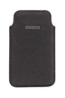 HUGO BOSS Babess textured-leather iPhone 4 case