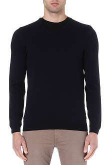HUGO BOSS V-neck merino wool jumper